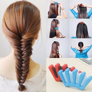 Lady Girl's French Hair Braiding Tool Weave Sponge Plait Twist Hair Braider DIY Styling Tool Holdr Clip Hair Accessorie 2 Colors