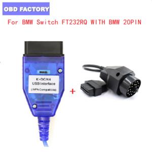 K DCAN FTDI FT232RQ con interruttore Per OBD2 OBD 2 OBD2 dell'attrezzo diagnostico attrezzo auto + 20pin per