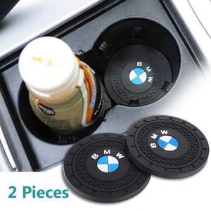 2,75 pouces Diamètre ovale Logo voiture robuste Support véhicule Voyage Coupe d'insertion automatique Coaster Fit BMW X6 / 340i / 325xi / M3 / M4 Intérieur Accessoires