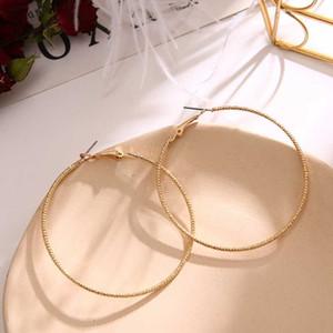 KINFOLK Trendy Big Gold Hopp Earrings For Women Gold Bohemian Earring Hoops Fashion Korean Women Earings Set Jewelry 2020