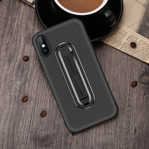 New Samsung mobile phone case Carbon fiber invisible bracket TPU anti-fall soft shell Suitable for S10 S10lite S9 S7 mobile phone case