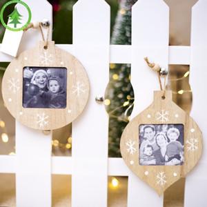 2019 المبتكرة زينة عيد الميلاد DIY معلق خشبي إطارات عيد الميلاد قلادة الحديثة إطارات الصور الهدايا