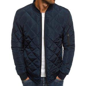2019 Тонкий Утепленные пальто осень зима Мужская Легкий ветрозащитный Packable Теплая куртка Сплошные цвета Jackests Outwear