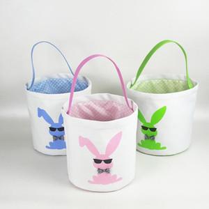 3D Impresso cestas de dinossauros Páscoa balde Sequins Sorte do ovo cestas Crianças Páscoa brinquedo coelho de armazenamento saco de presentes de Easter para miúdos LXL1262-3