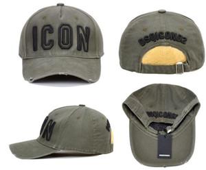ICON Sombreros de diseñador para hombre Casquette bordado de lujo ajustable Icon hat 4 colores detrás de las letras D2 sombrero de lujo marca Festival Party Gift
