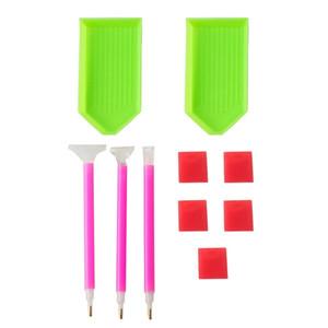 DIY Diamond Painting Accessories 5D Diamond Painting Cross Stitch Embroidery Pen Tools Set Mosaic Glue Tray Pen Kit