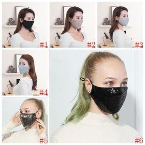 Лицо рта маски чистые хлопчатобумажные блестки маска осень зима теплые анти-смоги маски сексуальные анти пылевые маски дышащая удобная наружная маска zyq594