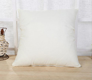 45 * 45CM Home Sofa Throw Pillowcase Pure Color Polyester White Pillow Cover Cushion Cover Decor Pillow Case Blank christmas Decor EEA1773