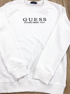 2019 Mens di lusso con cappuccio di lusso della lettera Felpe Moda Stripe Stampa pullover o-collo casuale delle parti superiori per le donne Coppia sweatershirt