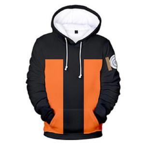 Naruto 3D Stampato Hoodies Donne Uomini caldo / vendita a maniche lunghe con cappuccio casual Felpe Anime Moda Streetwear Abbigliamento personalizzato