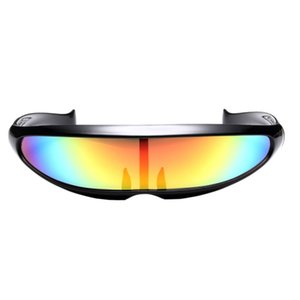 Futuristic Narrow Cyclops Sunglasses Cosplay Color Glasses Fashion Goggles Eyewear For Party Pet Supplies Home Garden