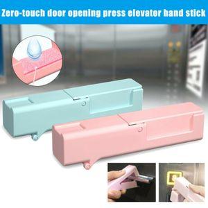 Minihand Press Höhenverstelltaste-Tür-Öffner 4 Farben Vermeiden Kontaktaufnahme Contactless Tragbarer Epidemie Prävention Werkzeug OOA8133