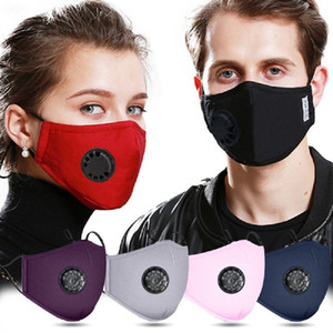 Reusable Dust-proof Masks Anti-Dust PM2.5 Breath Valve Facial Protective Cover Face Mask Activated washable cotton mouth mask by DHL