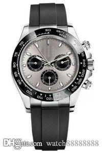 X28 Дизайнерские часы движение часы швейцарские часы Master, M116519ln, часы, серебряный корпус, резиновый ремешок, серый циферблат, скидка.