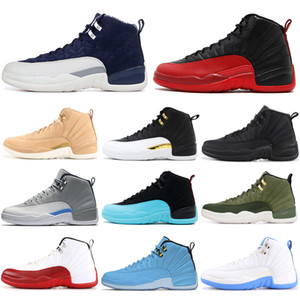 Original Classic 12s Basketball Shoes Size 7-13 Vachetta Tan Wings Winterized WNTR 12 Men Athletic Sports Sneakers Outdoors Rree Shipping