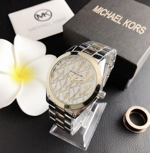 2019 New Moda Luxo Relógios de pulso das mulheres dos homens Steel Band Top Quality inoxidável 316L Quartz Designer M1MK clássico Reloj Relógios