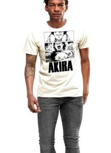 Смешной тенниски людей новизны женщины тенниски аним футболка Akira Neo Tokyo Мужчины белого хлопок Ти два отпечатка