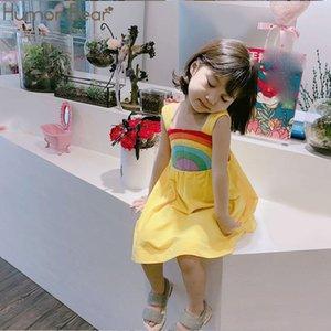 Humor Bear Abiti per ragazze Abiti per ragazze estivi Abiti per bambina colorati senza maniche Abiti per bambini per Princess Dress SH190907