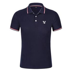 2020 горячей продажи мужской дизайнер рубашки поло летом лацкан отпечатанные с короткими рукавами хлопок рубашки мужские воротник рубашки поло 20SS Hommes