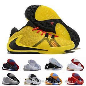 2019 New ZOOM Greek Freak 1 Giannis Antetokounmpo Schwarz Orange Gold GA I 1S Signature Basketballschuhe Trainer GA1 Sports Sneakers 7-12