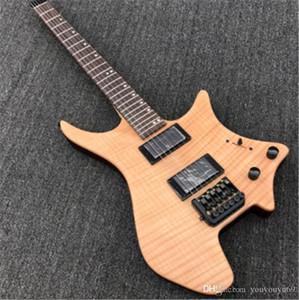 Yeni Sıcak UM rrival elektro gitar yükseltme başsız, kaplan derisi metal elektro gitar kurulu akustik rock, 8 renk seçenekleri Yüksek kaliteli, s