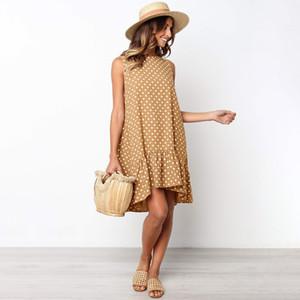 Les nouvelles femmes Robes Mode féminine Robes Casual Robe d'été Femmes Robe de plage Taille S-XL