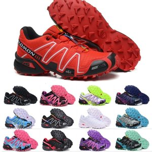 Salm Speedcross 3 CS Athletic Shoes Mens Donne Speed Cross III Rosa Nero Blu Running Escursionismo Sport Sneakers 36-46