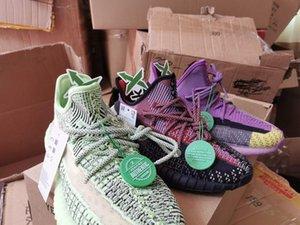 luxury designer men women V2 zebra static yecheil cream sesame kanye west og Clay True Form yecheil 3M Wave Casual shoes sneakersa123#