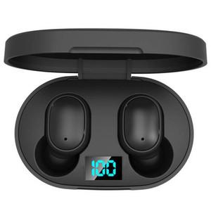 Cuffie senza fili Mini TWS E6S Headphone acustico ad alta fedeltà cuffie Bluetooth 5.0 con doppio display a LED Mic Earphones Auto Pairing Auricolari