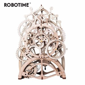 Robotime 4 Kinds DIY Laser Cutting 3D Mechanical Model Building Clodes Assembly Toy Gift for Children Adult Y200414