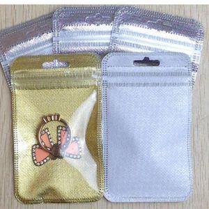 7 * 11 centímetros 8 * 13 centímetros 8 * 16 centímetros de plástico transparente com zíper Non-woven Resealable Retail Packaging Bag for Mobile dados acessórios do telefone linha do pacote