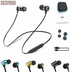 Auricolare Bluetooth cuffia senza fili metallici Sport SweatProof Auricolare Auricolare magnetica per Xiaomi iPhone Auriculare kulaklik