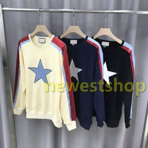 2020 new Autumn Winter Luxury Embroidery Star Striped hoodies Winter Europe Italy Hoodies Fashion Men Clothes Sweatshirt Women Hoody