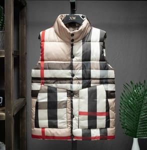Livraison gratuite Marque veste d'hiver Mens FreeStyle Gilet Goose Gilet Doudoune Down Vest kaki plaid Gilets homme