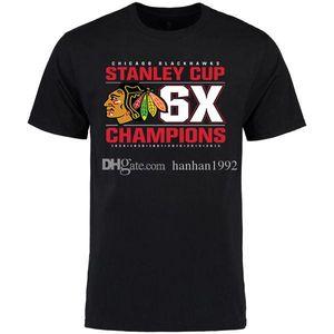 Chicago Blackhawks Mens Designer T Shirt fãs Black Red White Tops do T da forma T-shirt de algodão de manga curta Impresso Logotipos