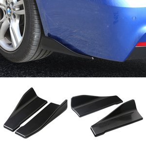 4pcs PP Car Body Rear Bumper Spoilers Lip Kit Splitters Protectors Diffuser