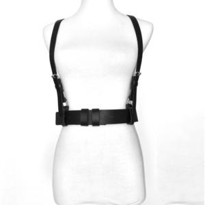 2020 cinghie di cuoio dell'unità di elaborazione punk sexy per le donne Brown Black Body Slim Bondage Cage Sculpting cintura a vita due cinghie bretelle Cintura Y200501