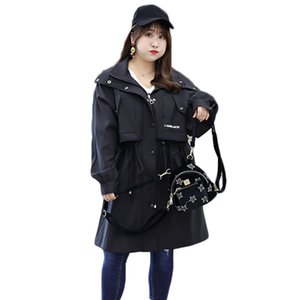 High Quality Female Windbreaker For Women Large Size 4XL Windproof Long Trench Coat Loose Autumn Winter Casual Trench Tops 2020
