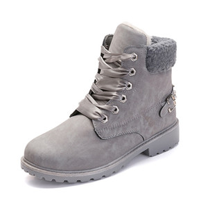 2020 Cheap Outono e inverno novas algodão além de veludo botas quentes Martin botas das mulheres rebite botas boots2019