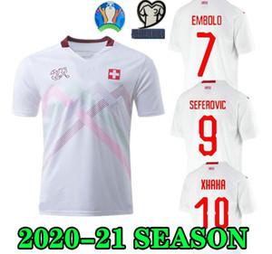 Top qualité 2020 maillots de football Suisse LOIN blanc 19 20 Suisse HOME Akanji Zakaria Rodriguez Elvedi chemises de football de l'équipe nationale