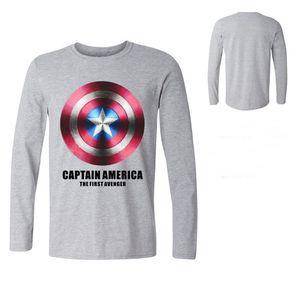 Homme Un t-shirt bouclier Captain America T-shirt 3D hauts تي شيرت تي شيرت noir Avengers Equipe VEtements Coton كم طويل تي