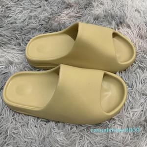 Kanye West diapositivas Qiao zapatillas de espuma corredor sandalia Bone resina negro Desierto zapatilla de sandalias de playa para hombre mujeres recipientes diseñador deslizan cc9