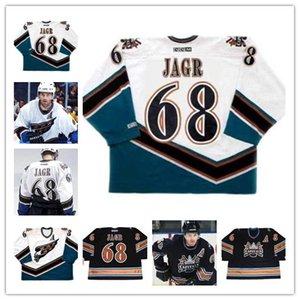 Men's #68 JAROMIR JAGR Washington Capitals 2003 CCM Vintage Away ICE Hockey stitched Jersey size XS-5XL