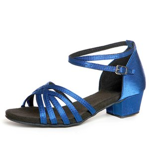 Танцевальная обувь Рождественский подарок бальные латиноамериканские танцевальные туфли Детская обувь атласные замшевые оксфорды низкая износостойкость низкая цена оптом горячая