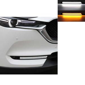 2PCS 자동차 DRL 마쓰다에 대 한 cx 5 cx5 cx 5 2018 2017 차례 신호 및 디밍 스타일 릴레이 12V LED 주간 러닝 안개 램프 장식