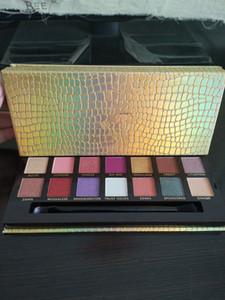 Новых Джеки Айн 14 цвета Eyeshadow палитра макияж Рождество Long износ Nude Eye Shadow Powder Пигментного Cosmetic подарки Палитра Бесплатной доставка