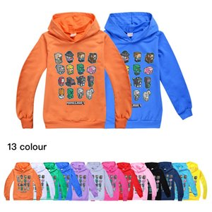 13 Color Minecraft Minecraft Children's Pullover Hooded Long Sleeve Sweater Boys and Girls Hooded Sweater 294 Baby Kids Clothing