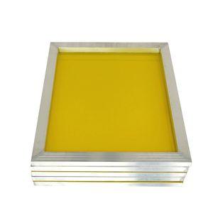 Alluminio 43 * 31 centimetri Serigrafia telaio allungato Con Bianco 120T Seta Stampa poliestere giallo Mesh per circuito stampato T200522