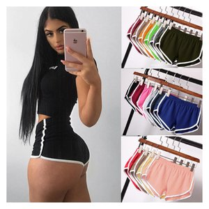 Women Ladies Casual Summer Sports Yoga Beach Female Skinni Fitting Pants Candy Colored Stretch Shorts