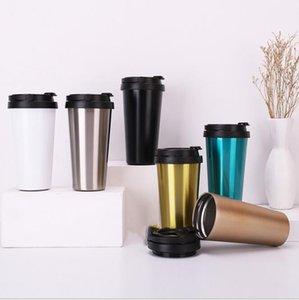 2019 500ML Vacuum Tumbler Coffee Mug Stainless Steel Double Wall Vacuum Insulated Beer Cups Drinkware Vacuum Mugs H205 030
